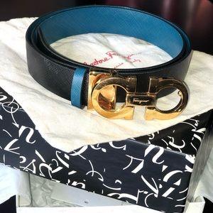 Ferragamo Gancini Reversible Adjustable Belt